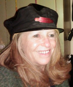 me in railway hat